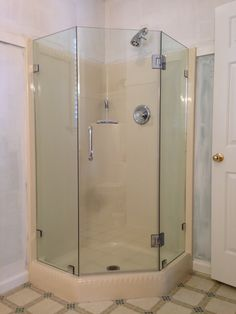 Perfect Looking For A Super Space Save For Your Small Bathroom? A Corner Shower  With Neo. Frameless Shower DoorsCorner ...