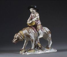 Mennecy. Boy riding a dog, ca. 1745-1750. The Metropolitan Museum of Art, New York. The Lesley and Emma Sheafer Collection, Bequest of Emma A. Sheafer, 1973 (974.356.587)