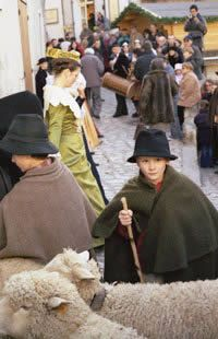 Young shepherd in Provence Christmas celebration.  Pinned by www.mygrowingtraditions.com