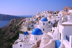 Santorini, Greece. Everybody's dream place, I guess.