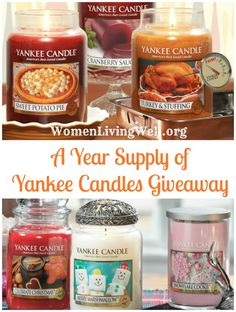 A Year Supply of Yankee Candles Giveaway to celebrate the launch of the newly released book titled Women Living Well ~ By Courtney Joseph