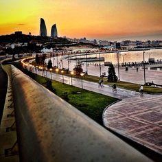 Sunset in Baku