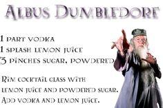 Harry Potter Drinks - Dumbledore did love lemon drops. :)