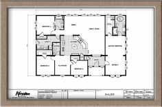 40X50 Metal Building House Plans | 40X60 Home Floor Plans http://www.thehomesdirect.com/homes/detail ...