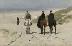 Morning Ride along the Beach, Anton Mauve, 1876