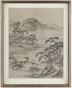 A Chinese painting on paper, first hlf of the 20th Century.