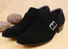 Item Type: Men's Formal Shoes Department Name: Adult Shoe Width: Medium(B,M) Upper Material: Suede Decorations: Buckle Pattern Type: Solid Leather Style: Nubuck Leather Gender: Men Occasion: Dress Mat