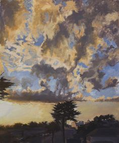 David Dunn, Crespi Clouds, 36 x 30 inches, oil on canvas, 2012