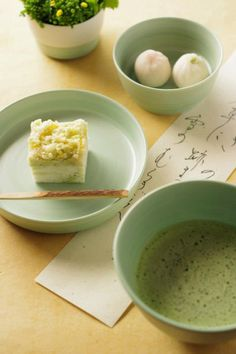 Japanese matcha tea and sweets. #food #matcha