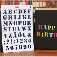 3 Estilos Letra Del Alfabeto Número de Capas Plantillas Pintura Tarjetas de Papel de Scrapbooking Del Arte de DIY Herramientas Creativas(China (Mainland))