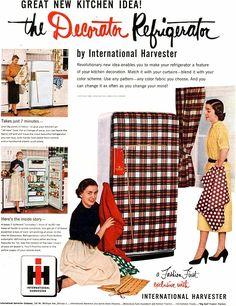 International Harvester Decorator Refrigerator