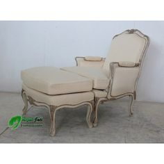 French chair and ottoman