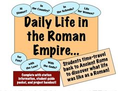 Daily Life in the Roman Empire: Experience 7 areas of life in Ancient Rome!