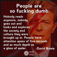 A spot of cynicism from the Starman