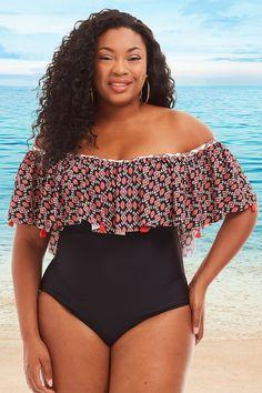 44d8c6c573 18 Best Jessica Simpson Plus Size Swimwear at Always For Me images ...