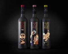 Moi Je M' en Fous!   Branding and Design for a wine series