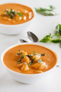 This Creamy Slow Cooker Tomato Soup only takes minutes to prepare and is perfect for a cold night. Keep this recipe on hand for busy nights when you only have a few minutes to prep dinner.: