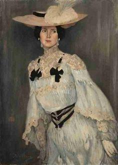 Portrait of a Woman by Gino Parin (1876-1944) - Gino Parin, pseudonimo di Federico Guglielmo Jehuda Pollack (Trieste, 1876 – Bergen-Belsen, 1944), è stato un pittore italiano.