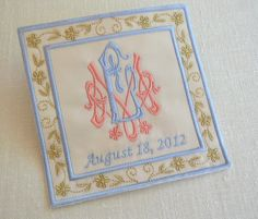 Custom Embroidered Wedding Dress Label by EmbroideryCollection. So pretty.