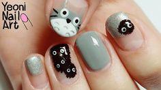 [토토로 네일아트] となりのトトロネイル / My Neighbor Totoro Nails