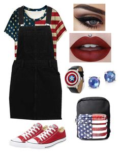 """American"" by olahtory on Polyvore featuring WithChic, Converse, Ippolita and Current Mood"