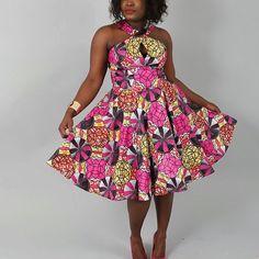 African clothing : NEW PAULINE dress handmade from authentic super wax print. Nice Dresses, Summer Dresses, Tribal Dress, Batik Dress, Ankara Fabric, African Design, Knee Length Dresses, African Dress, Dressmaking