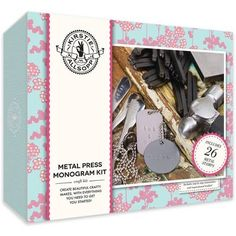 Kirstie Allsopp Metal Press Monogram Kit   Hobbycraft