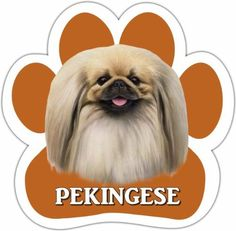 Pekingese Car Magnet With Unique Paw Shaped Design Measures 5.2 by 5.2 Inches Covered In High Quality UV Gloss For Weather Protection >>> More info could be found at the image url. (This is an Amazon affiliate link)