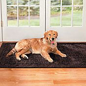 machine washable area rug for under the dog crate.
