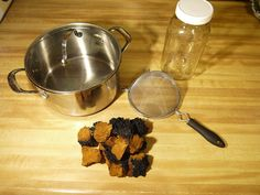A step by step pictorial on how to make chaga tea