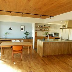 Kitchen/無印良品/ポスター/タイル/マンション/北欧インテリア...などのインテリア実例 - 2017-11-15 12:07:34 Asian Interior, Simple Interior, Cafe Interior, Interior Design, Compact Kitchen, Smart Kitchen, Muji Haus, Minimal Decor, Wooden Kitchen