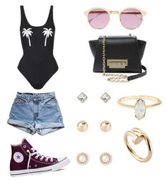 """""""Untitled #12"""" by thenamesmames on Polyvore featuring Topshop, Levi's, Converse, ZAC Zac Posen, Sheriff&Cherry, Forever 21 and Cartier"""