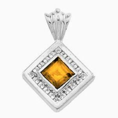 Platinum Princess Cut;Diamonds: 0.32 Ct. Total Weight Citrine Pendant Gems-is-Me. $1776.68. This item will be gift wrapped in a beautiful gift bag. In addition, a 'gift message' can be added.. FREE PRIORITY SHIPPING