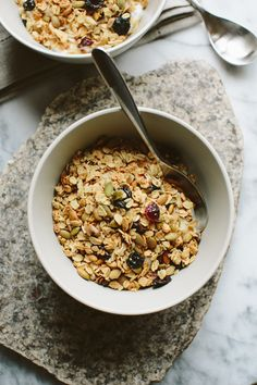Maple, Fruit and Nut Granola // A Thought For Food