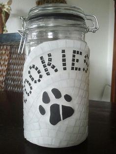 Vorratsglas 1,2l für Hundeleckerchen