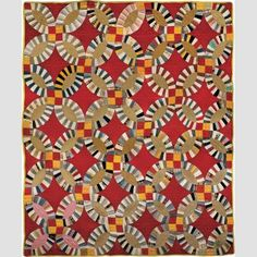 Double Wedding Ring Quilt Artist unidentified