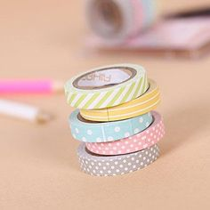 Candy Color Thin Washi Tape