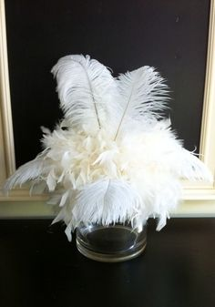 feather tablescapes   Ostrich Feather Centerpiece topper by ...   AA Feathers: tablescape...