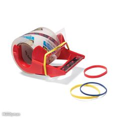 Slip a rubber band over the 'ears' of your packing tape dispenser as shown to keep the end of the tape from falling through the slot and then back onto the roll. The tape won't stick to the rubber, so you'll always be ready to roll.