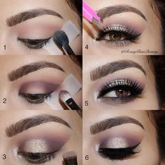 Step 1: To achieve the perfect edge and clean cat eye look, place a small piece o...