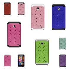 Under $9 FREE Shipping...Heavy Duty Diamond Bling Case For Nokia Lumia 635 Hybrid Armor Phone Cover #CoverON
