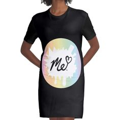 Me Moriah Girly Graphic T-shirt Dress by RB-Store