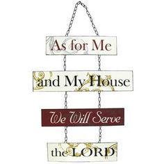 As For Me & My House Metal Chain Sign | Shop Hobby Lobby