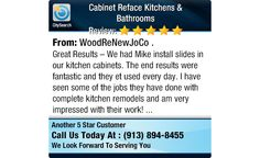 Great Results – We had Mike install slides in our kitchen cabinets.  The end results...
