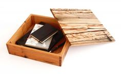 uusi Architectural Storage Boxes - wood. made from reclaimed old-growth redwood and cypress