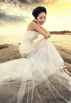 French Lace see-through Chapel Wedding Dress. Jerrica- Bottom part only  Chapel Wedding 6377ea2a345a