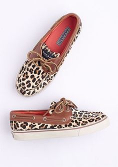 Sperry Bahama 2-Eye Leopard: $75.50 #Sneakers #Sperry - by Repinly.com