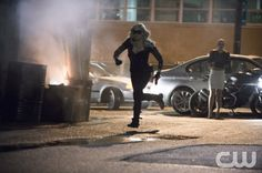 "Arrow -- ""Time of Death"" -- Image AR214b_0507b -- Pictured (L-R): Caity Lotz as Canary and Emily Bett Rickards as Felicity Smoak -- Photo: Cate Cameron/The CW -- © 2014 The CW Network, LLC. All Rights Reserved."