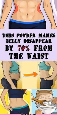 This Powder Makes Belly Disappear By 70% From The Waist! #health #fat #weight #fitness #beauty