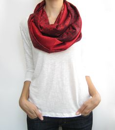Pashmina infinity scarf, colorful loop scarf, multiple options shawl